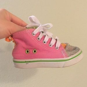 Chatties Hightops Pink Sparkly Shoes Toddler 5/6